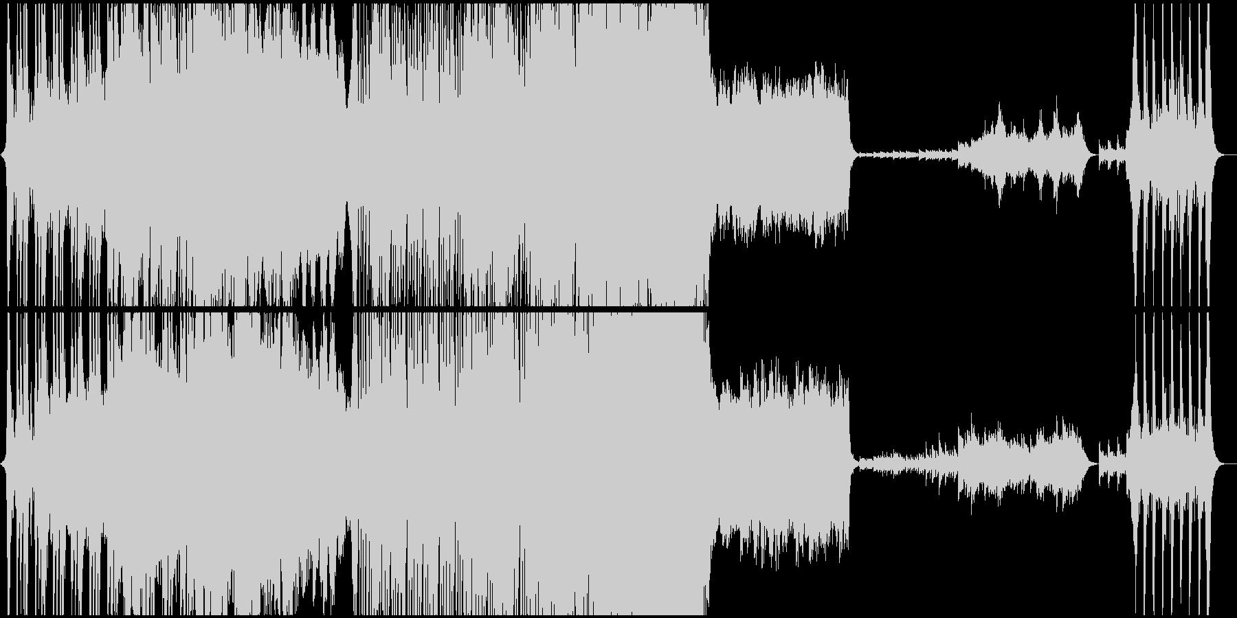 激しく壮大なフルオーケストラの戦闘曲の未再生の波形
