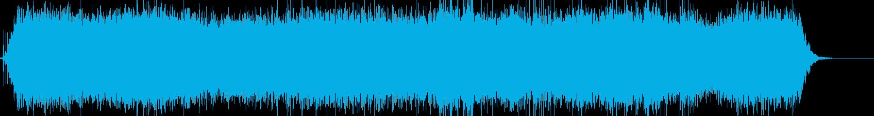 カチ、ブオーン!ドライヤーのリアルな音2の再生済みの波形