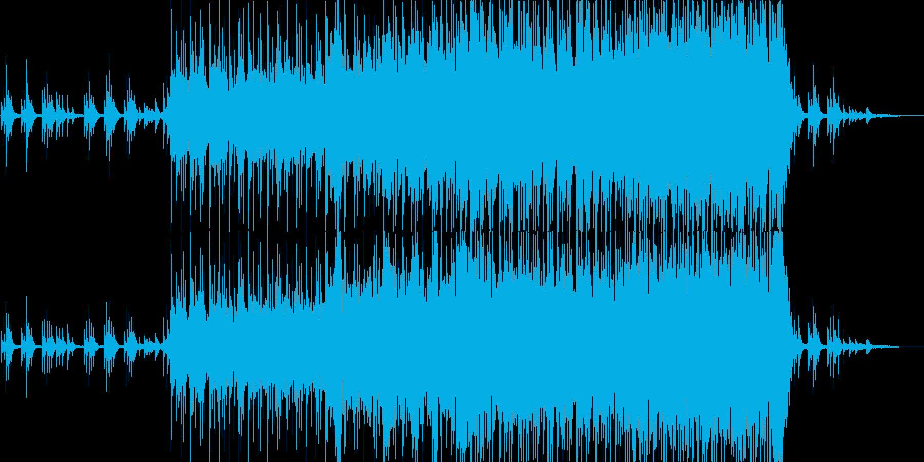 ピアノ中心の和風インスト(太鼓等あり)の再生済みの波形