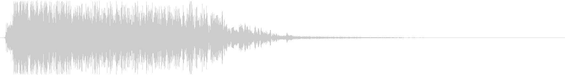 生演奏メタルなアイキャッチ19 デス声入の未再生の波形