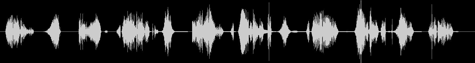 マルチレーザーバーストの未再生の波形