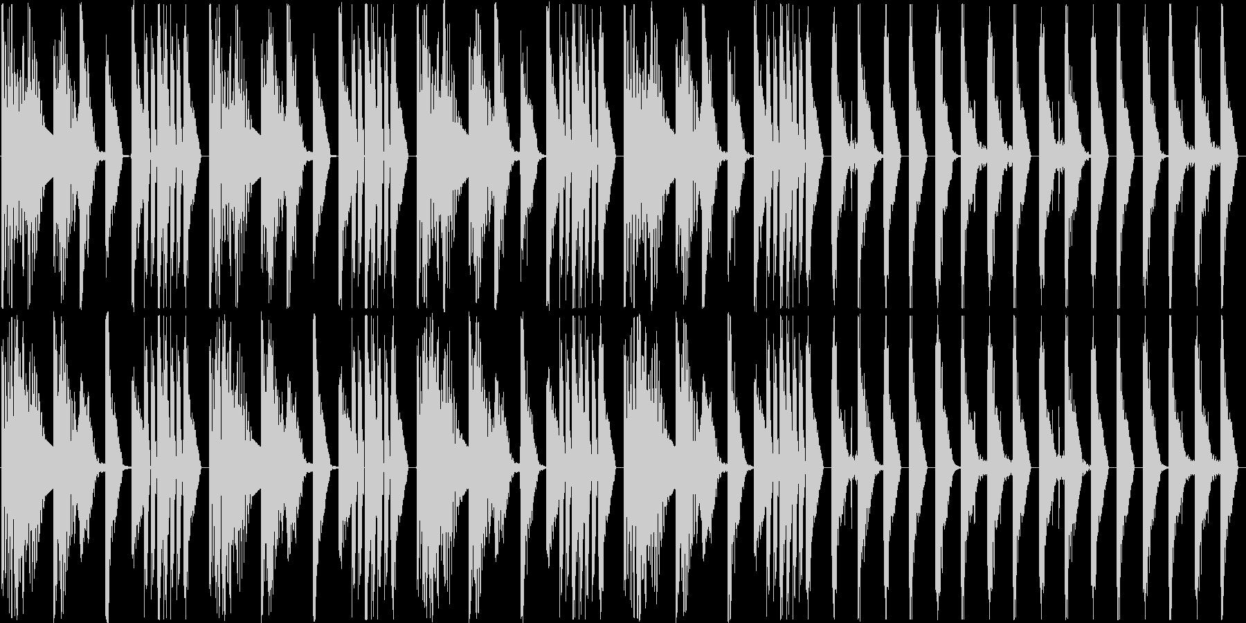 ほぼリズムだけの曲ですの未再生の波形