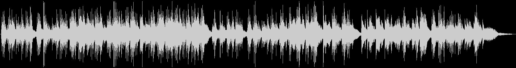 ほのぼのとした雰囲気のピアノソロBGMの未再生の波形