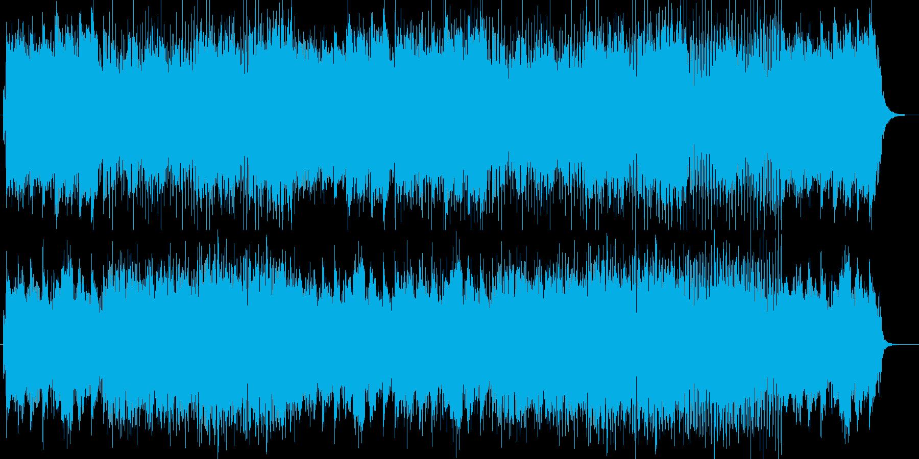 アコースティックで軽快な楽曲の再生済みの波形