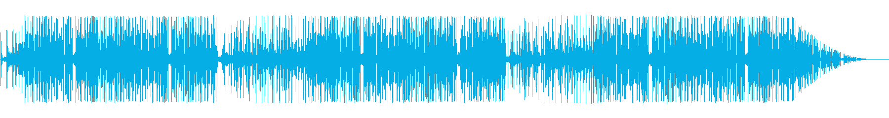 ノリノリで踊りたくなるヒップホップの再生済みの波形