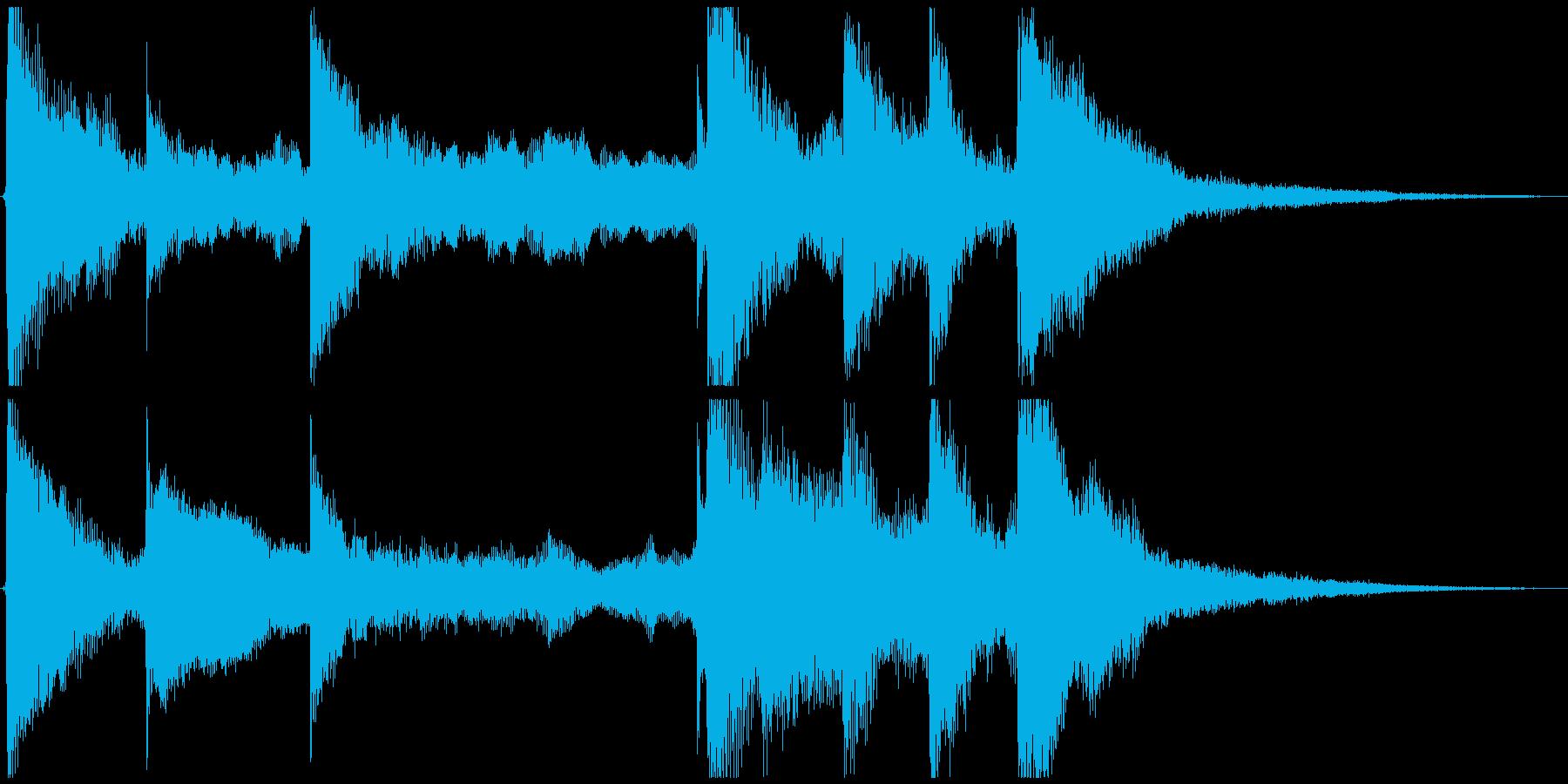 ゆったり ピアノ&パンするストリングスの再生済みの波形