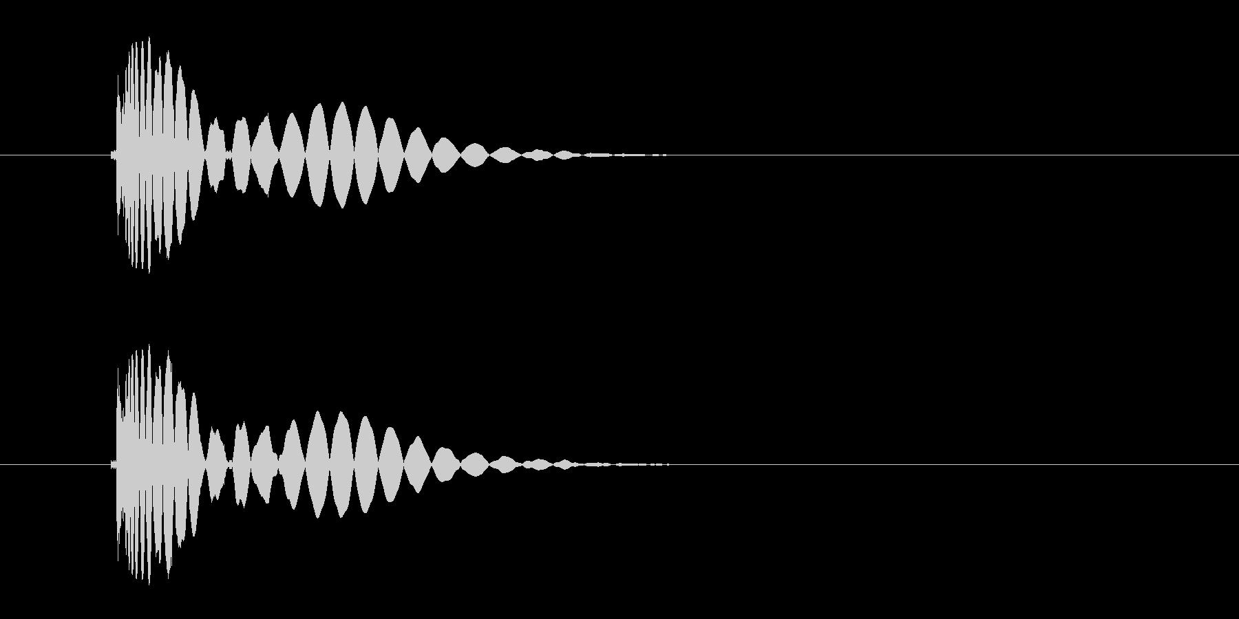 ヒット音(蹴る-4 打撃のインパクト音)の未再生の波形