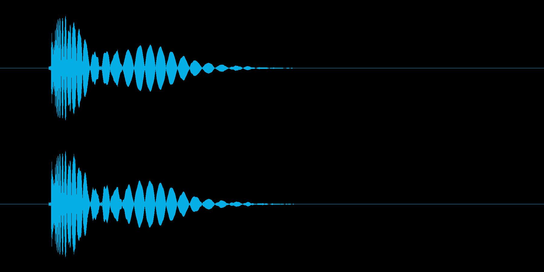 ヒット音(蹴る-4 打撃のインパクト音)の再生済みの波形