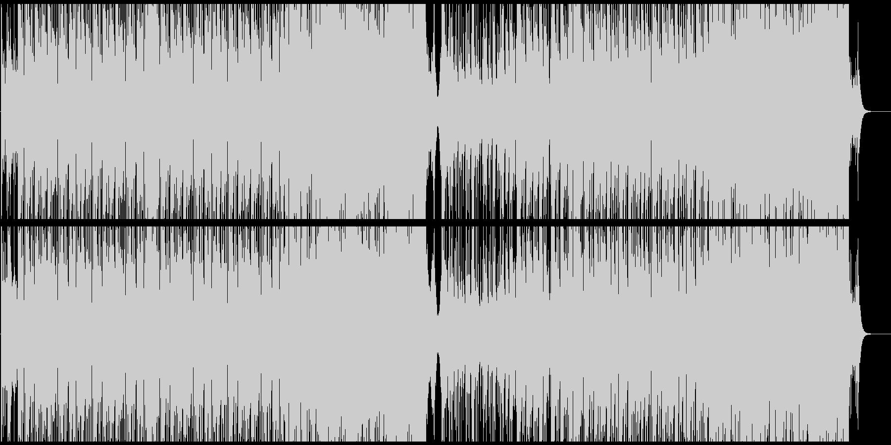 切なく幻想的な三味線の旋律が印象的な曲の未再生の波形