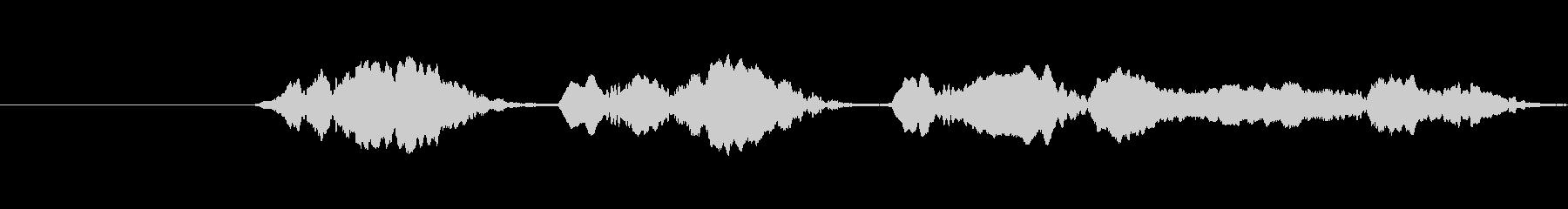 オオカミのhist、大声でX4の未再生の波形