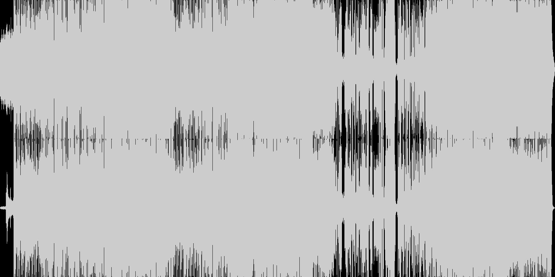美しいメロディのミドルテンポのロックの未再生の波形