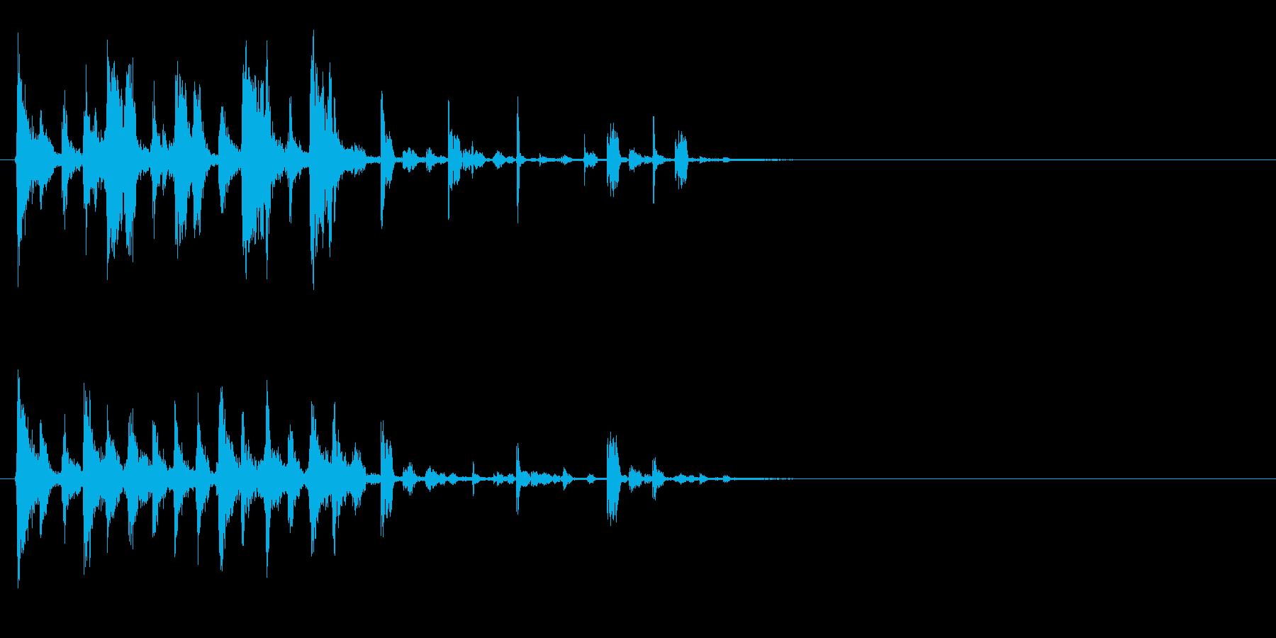 リズム系映像のテーマテロップ音の再生済みの波形