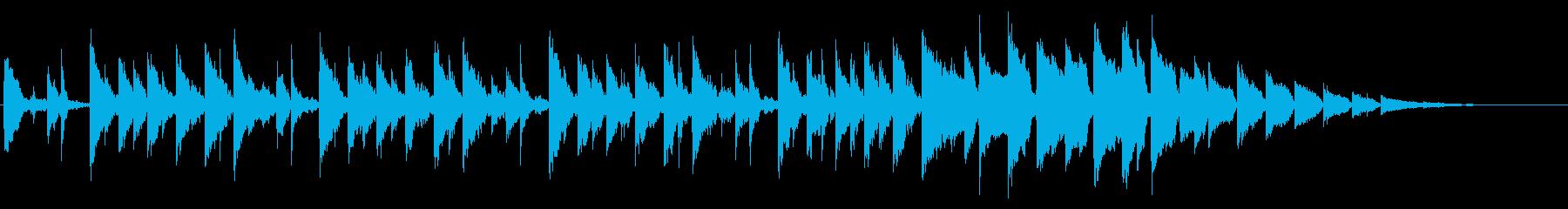 スピリチュアルな感じの不思議系背景音の再生済みの波形