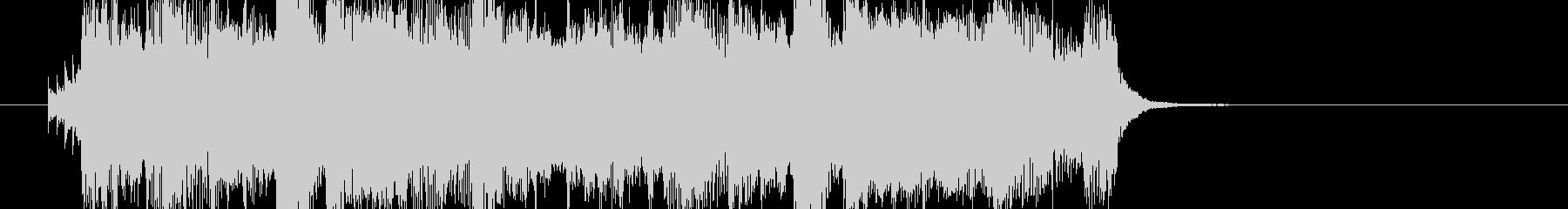 明るいエンディング風なBGMの未再生の波形