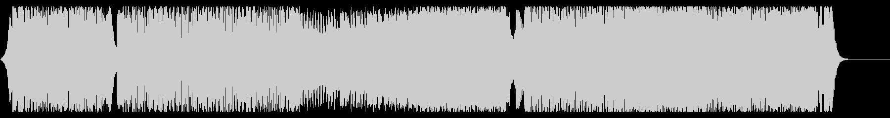 明るく快活ノリの良いテクノポップ曲です。の未再生の波形