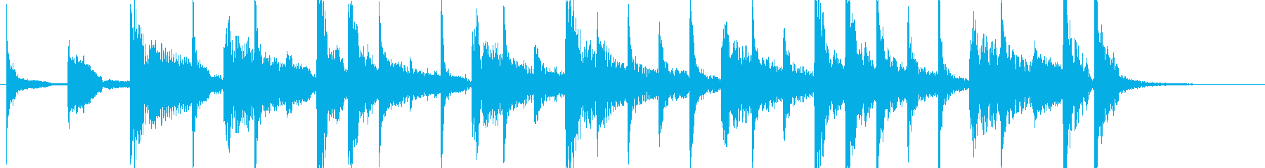 ラテンなジングル ♩=130の再生済みの波形