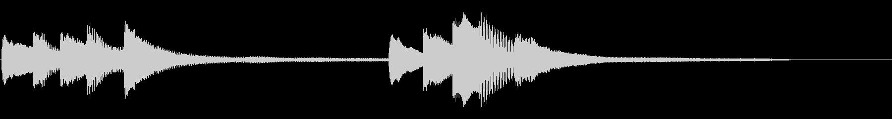 和音が響くシックなピアノソロ12秒の未再生の波形