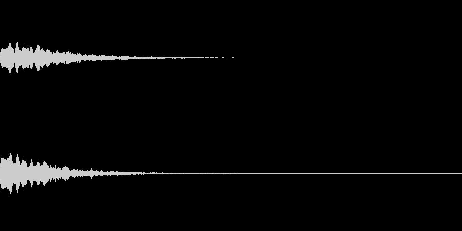 シックなレベルアップ音A06の未再生の波形