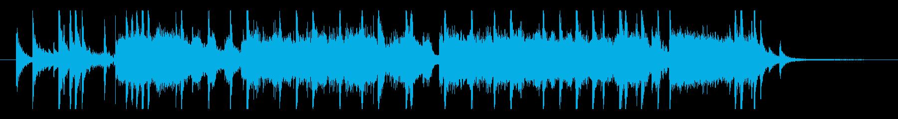 ショータイムの始まりのようなジングルの再生済みの波形