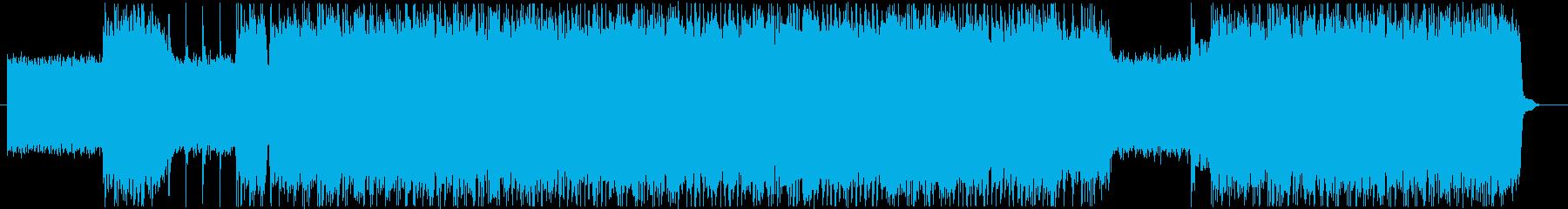 短縮Verノリの良いロックギターインストの再生済みの波形