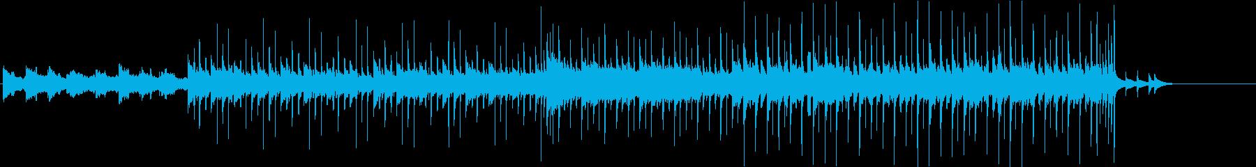 生ウクレレの可愛らしく穏やかなポップスの再生済みの波形