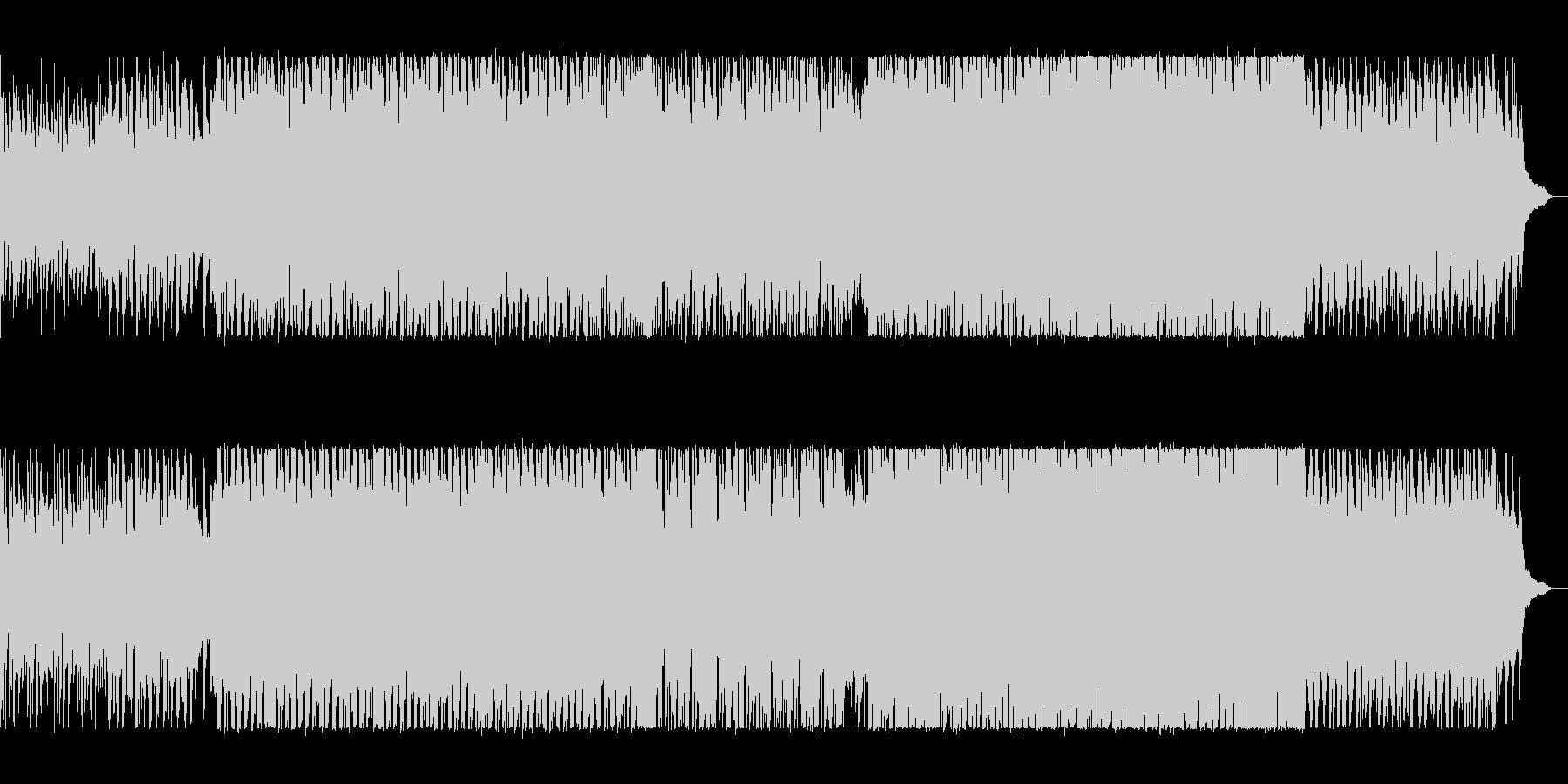 軽快なリズムのテクノポップの未再生の波形
