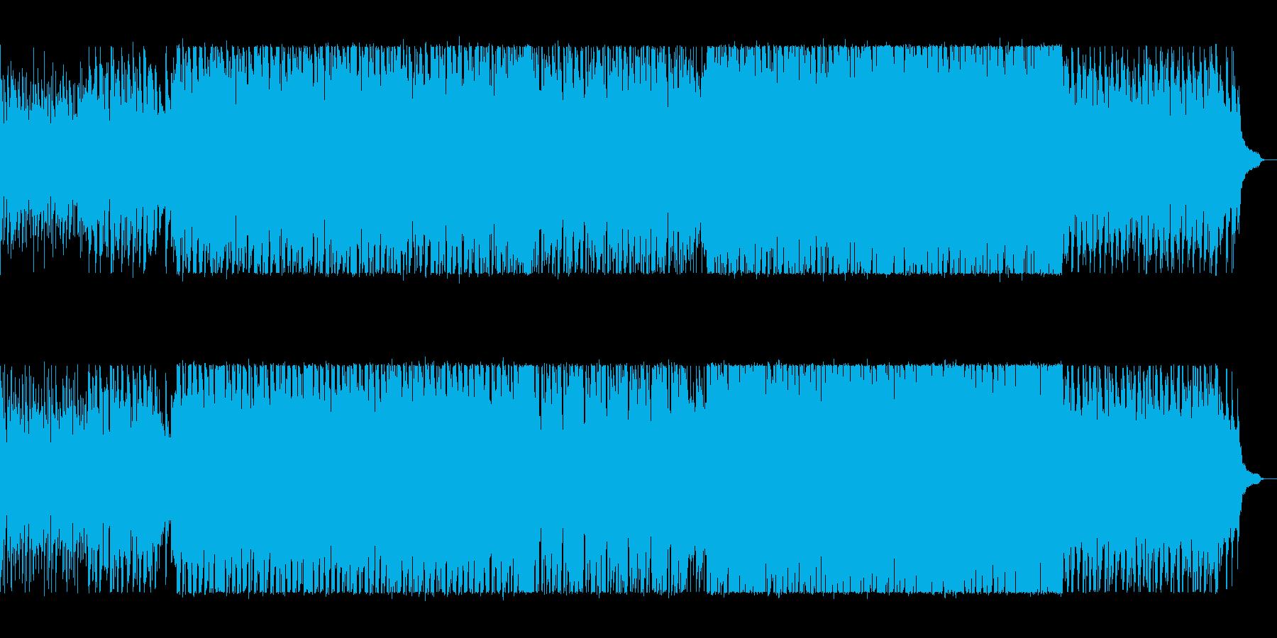 軽快なリズムのテクノポップの再生済みの波形