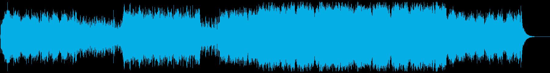 壮大シリアスなハリウッド系オーケストラの再生済みの波形