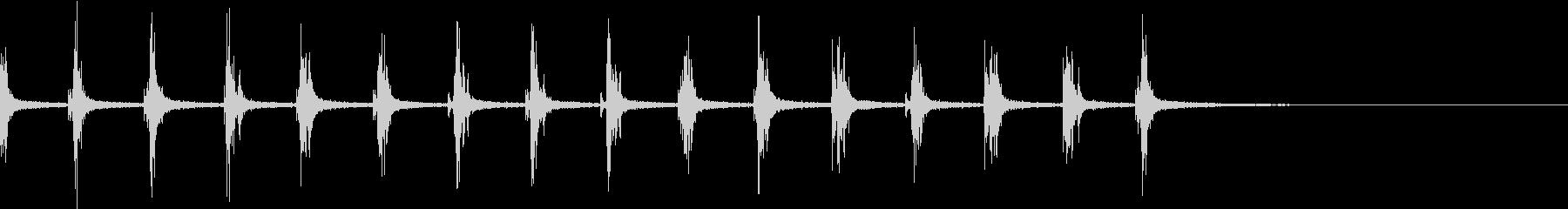 手拍子 の未再生の波形