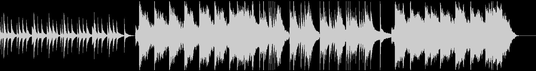ピアノとバイオリンによる悲しい曲の未再生の波形