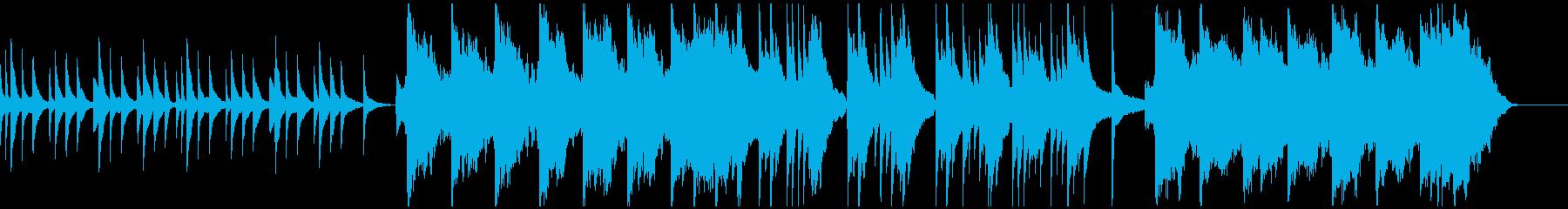 ピアノとバイオリンによる悲しい曲の再生済みの波形