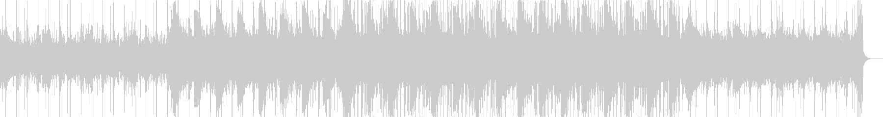 エレクトロニカなブレイクビーツの未再生の波形