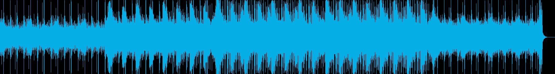 エレクトロニカなブレイクビーツの再生済みの波形