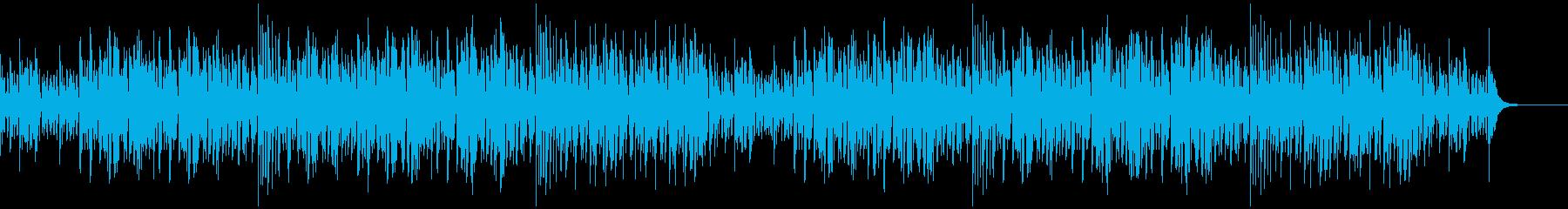 軽快でリズミカルなジャズの再生済みの波形