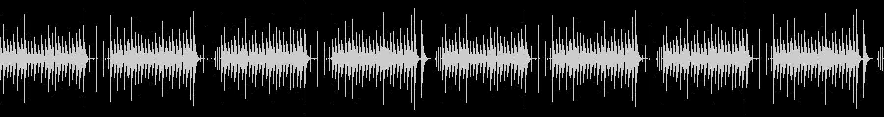 木琴とタブラの明るいループの未再生の波形