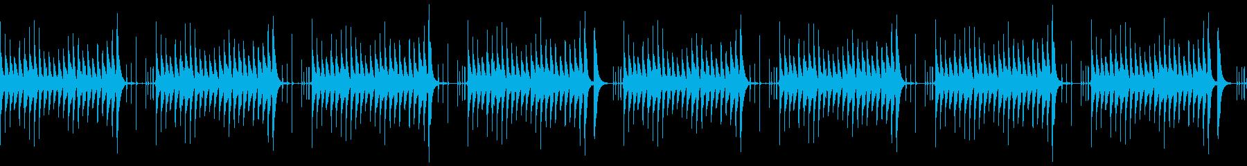 木琴とタブラの明るいループの再生済みの波形