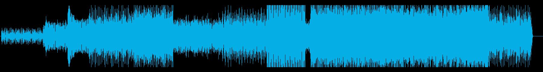 おしゃれでリズミカルなループ系BGMの再生済みの波形