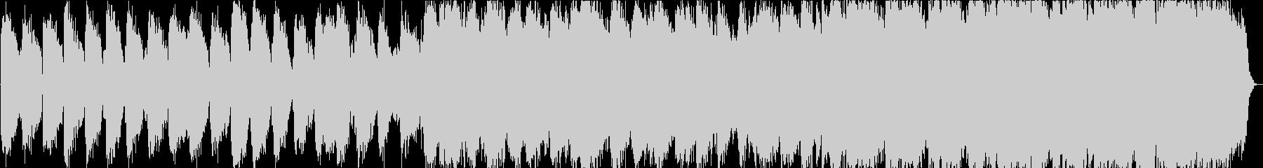 自然の笛のヒーリングミュージックの未再生の波形