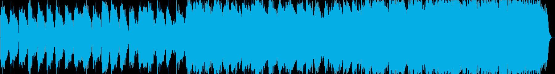 自然の笛のヒーリングミュージックの再生済みの波形