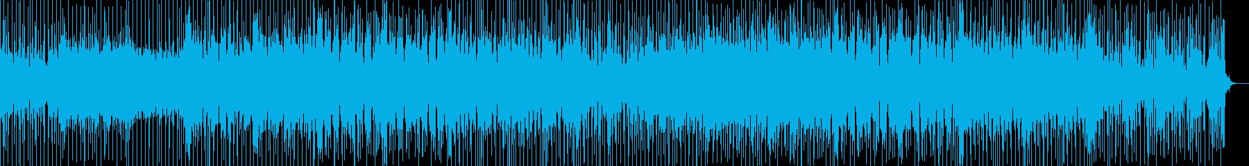 弾けるような明るさと爽やかさのBGMの再生済みの波形