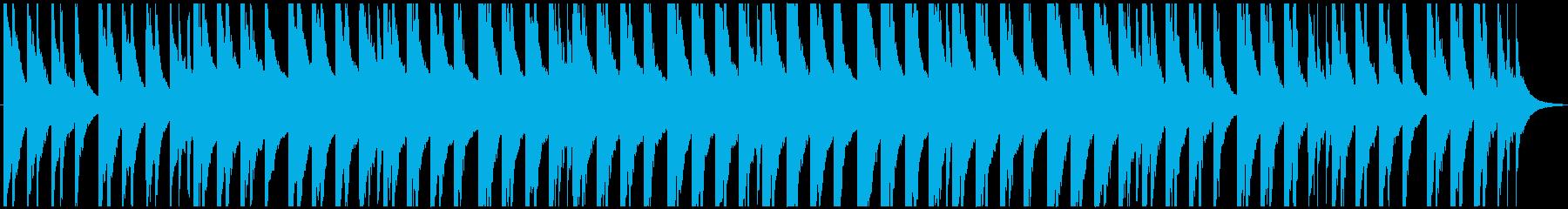 ピアノのバラード系BGMの再生済みの波形