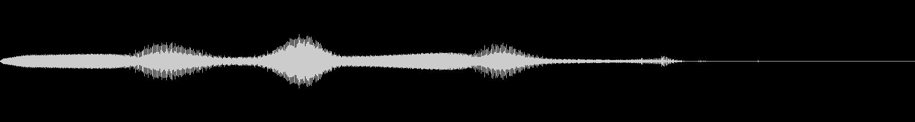ゲームの効果音 2の未再生の波形