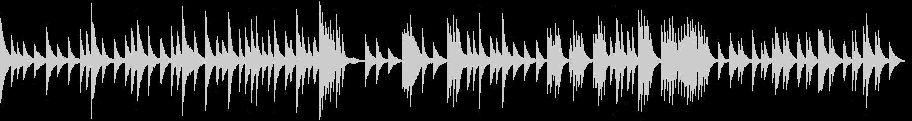 淡々と静かに流れるピアノソロの未再生の波形