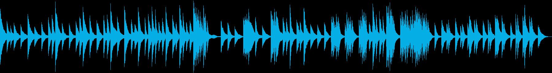 淡々と静かに流れるピアノソロの再生済みの波形
