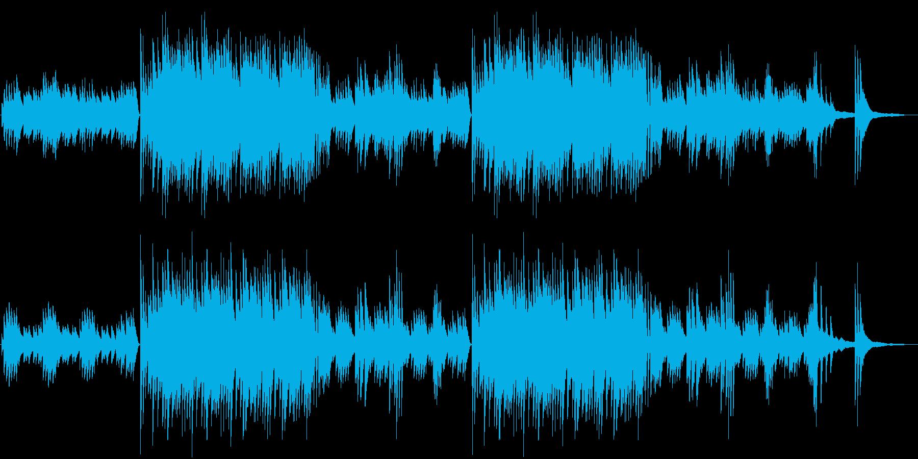 優雅で美しいメロディの中華風ピアノBGMの再生済みの波形