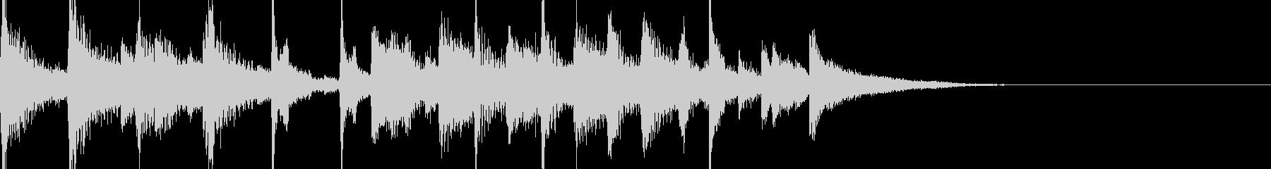 ピアノのジャズ風ジングルの未再生の波形
