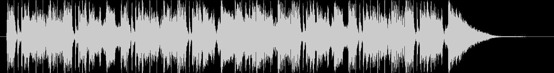 コミカルなキャラ アイキャッチの未再生の波形