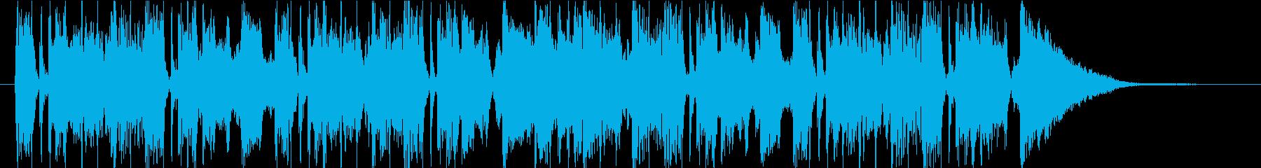 コミカルなキャラ アイキャッチの再生済みの波形
