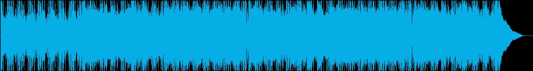 背景、ロックの再生済みの波形