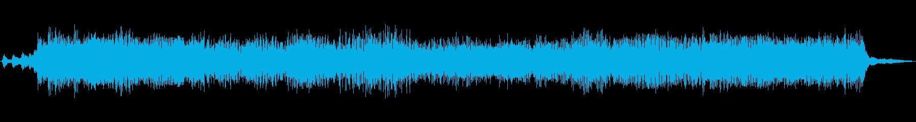 強烈な、歪んだ、複雑なスクリーン:...の再生済みの波形